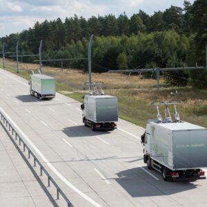 electric pantograph trucks on eHighway